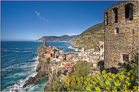On the coast of the Cinque Terre, hike a little south up the hill and you can get a breathtaking view of Vernazza and its watchtower in the harbor. From either of these tower locations, you can obtain great Cinque Terre pictures, or just enjoy the view as far as the eye can see.