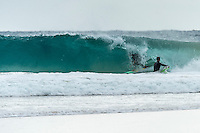 Coolangatta, Queensland Australia. (Friday September 25, 2015) Dean Harrington (AUS)–  A strong South swell was running today on the back of a very strong South wind. The swell was hitting D-Bah and TOS and was smaller on the points. Snapper Rocks was working on the mid tides but was very crowded. Photo: joliphotos.com