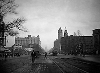 Washington DC:  View down Pennsylvania Avenue toward the US Capital - 1912