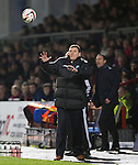 Ross County v St Johnstone....04.01.14   SPFL<br /> St Johnstone boss Tommy Wright<br /> Picture by Graeme Hart.<br /> Copyright Perthshire Picture Agency<br /> Tel: 01738 623350  Mobile: 07990 594431