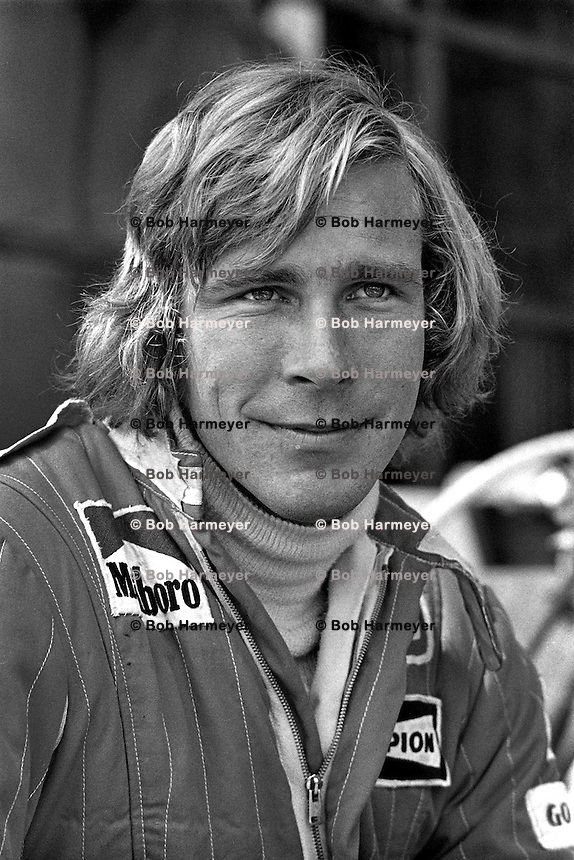 MONTE CARLO, MONACO - MAY 30: James Hunt of Great Britain waits to drive his McLaren M23 8-2/Ford Cosworth during practice for the Grand Prix of Monaco FIA Formula 1 race at the Circuit de Monaco temporary street circuit in Monte Carlo, Monaco on May 30, 1976.