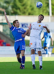 St Johnstone v Motherwell...11.09.10  .John Sutton and Alan Maybury.Picture by Graeme Hart..Copyright Perthshire Picture Agency.Tel: 01738 623350  Mobile: 07990 594431