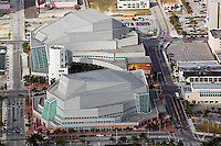 aerial photograph Adrienne Arsht center for the Performing Arts Biscayne Boulevard downtown Miami Florida USA