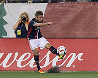 Foxborough, Massachusetts - August 13, 2016:  In a Major League Soccer (MLS) match, Philadelphia Union (white) defeated New England Revolution (blue/white), 4-0, at Gillette Stadium.