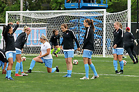 Piscataway, NJ - Saturday May 20, 2017:Sky Blue FC players prior to a regular season National Women's Soccer League (NWSL) match between Sky Blue FC and the Houston Dash at Yurcak Field.  Sky Blue defeated Houston, 2-1.