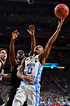 GLENDALE, AZ - APRIL 03: Nate Britt #0 of the North Carolina Tar Heels reaches for a rebound against the Gonzaga Bulldogs during the 2017 NCAA Men's Final Four National Championship game at University of Phoenix Stadium on April 3, 2017 in Glendale, Arizona.  (Photo by Brett Wilhelm/NCAA Photos via Getty Images)