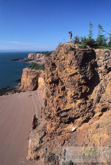 Red Rhyolite Cliffs, Bay of Fundy, Cape Chignecto Provincial Park, Nova Scotia, CanadaRed Rhyolite Cliffs, Bay of Fundy, Cape Chignecto Provincial Park, Nova Scotia, Canada