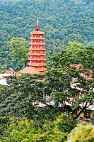 Pagoda of the Monastery at Ten Thousand Buddhas temple, Sha Tin, New Territories, Hong Kong SAR, People's Repbulic of China, Asia