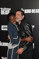 HOLLYWOOD, CA - OCTOBER 23: Danai Gurira and Jeffrey Dean Morgan at AMC Presents Live, 90-Minute Special Edition of 'Talking Dead' at Hollywood Forever on October 23, 2016 in Hollywood, California. Credit: David Edwards/MediaPunch