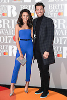 Michelle Keegan &amp; Mark Wright at the 2017 Brit Awards at the O2 Arena in London, UK. <br /> 22 February  2017<br /> Picture: Steve Vas/Featureflash/SilverHub 0208 004 5359 sales@silverhubmedia.com