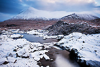 Sgurr Mhairi - Glamaig and Red Cuillins in winter, Isle of Skye, Scotland