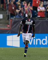 Foxborough, Massachusetts - July 23, 2016: In a Major League Soccer (MLS) match, New England Revolution (blue/white) defeated Chicago Fire (white),1-0, at Gillette Stadium.