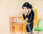 ©PRISCILLA COLEMAN ITN  22.11.05.SUPPLIED BY PHOTONEWS SERVICE LTD.PIC SHOWS: ARTIST IMPRESSION HOMEYRA MONCKTON GIVING EVIDENCE TODAY AT THE OLD BAILEY IN THE CASE OF ELLIOT WHITE AND DAMIEN HANSON WHO ARE ON TRIAL FOR THE MURDER OF FINANCIER JOHN MONCKTON AND ATTEMPTED MURDER OF HIS WIFE HOMERYA AT THEIR HOME IN CHELSEA-SEE STORY