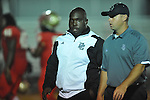 Lafayette High vs. Duval Charter coach Buster Davis in Oxford, Miss. on Friday, September 7, 2012. Lafayette High won 69-0.