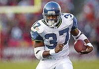 Shaun Alexander In an NFL game played at 3 Comm Park between the Seattle Seahawks and the San Francisco 49ers.