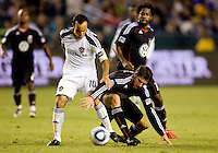 DC United defenderDejan Jakovic makes a huge blunder as LA Galaxy captain Landon Donovan scoopes up the ball and scores a goal. The LA Galaxy defeated DC United 2-1at Home Depot Center stadium in Carson, California on Saturday September 18, 2010.