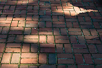 brick cobblestone street path walkway