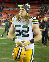 Green Bay Packers outside linebacker Clay Matthews (52) leaves the field following his team's 42 - 24 loss to Washington Redskins at FedEx Field in Landover, Maryland on Sunday, November 20, 2016. <br /> Credit: Ron Sachs / CNP /MediaPunch