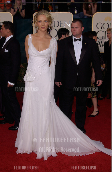 Jan 16, 2005; Beverly Hills, CA: UMA THURMAN at the 62nd Annual Golden Globe Awards at the Beverly Hilton Hotel..