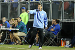 19 September 2014: UNC head coach Carlos Somoano. The Duke University Blue Devils hosted the University of North Carolina Tar Heels at Koskinen Stadium in Durham, North Carolina in a 2014 NCAA Division I Men's Soccer match. Duke won the game 2-1.