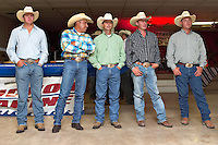 BOERNE, TX - JULY 27, 2007: The Corral Club Ring of Fire Ranch Rodeo held at the Kendall County Fairgrounds. (Photo by Jeff Huehn)