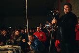 Tanzaufführung von Kindern vor den Wahlen in Comrat,  der Hauptstadt des autonomen Gebietes Gagausiens in dem ca. . 160000 Einwohnern leben, die Republik Moldau ist eines der ärmsten Länder Europas / Pre election concert at Comrat