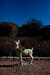 A decorated statue sits between two Sun City homes, seen December 11, 2010. .2010 marks the 50th anniversary of Sun City, America's first retirement city that remains the largest today with more than 40,000 residents 55 and older.