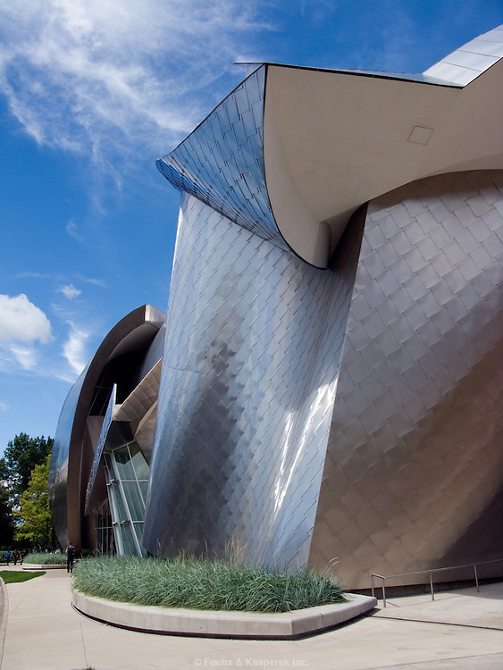 The Frank Gehry designed Peter B. Lewis building on the camus of Case Western University.
