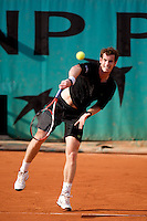 Andy Murray (GBR) (3) against Juan Ignacio Chela (ARG) in the first round of the Men's Singles. Murray beat Chela 6-2 6-2 6-1 ..Tennis - French Open - Day 1 - Sun 24th May 2009 - Roland Garros - Paris - France.Frey Images, Barry House, 20-22 Worple Road, London, SW19 4DH.Tel - +44 20 8947 0100.Cell - +44 7843 383 012