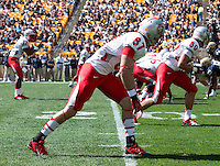 New Mexico wide receiver Jeric Magnant (87) lines up at the line of scrimmage. The Pitt Panthers defeated the New Mexico Lobos 49-27 on Saturday, September 14, 2013 at Heinz Field, Pittsburgh, Pennsylvania.