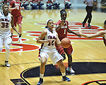 Ole Miss' Diara Moore (10) vs. Arkansas' Keira peak (1) in a women's college basketball game in Oxford, Miss. on Thursday, January 31, 2013. Arkansas won 77-66.