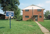 1991 August ..Assisted Housing..Moton Circle..BEFORE & AFTERS.EXTERIOR WITH SIGN...NEG#.NRHA#..