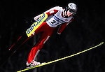 GUIDO LANDERT of Switzerland soars through the air during the FIS World Cup Ski Jumping in Sapporo, northern Japan in February, 2008.
