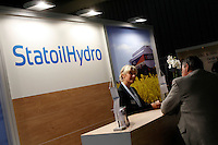 "StatoilHydro exhbition. Renewable sources will be helping to meet the world's demand for energy in the future. This development opens new markets and opportunities for business. Hoping to make ""green business"" and ""green profit"" over 60 exhibitors took part in the The North European Renewable Energy Convention (Nerec) , in Norway, presenting their solutions for renewable energy in the future. .© Fredrik Naumann/Felix Features"