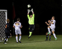 The Winthrop University Eagles lose 2-1 in a Big South contest against the Campbell University Camels.  Ethan Hall (1), Cameron Mulvey (2), Max Hasenstab (18), Adriano Negri (17)