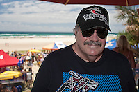 MICHAEL 'MP' PETERSON (AUS)   Kirra Beach, Queensland, Australia.   Monday January 26 2009..Over one thousand five hundred people paddled out at Kirra Beach today to protest the loss of the world famous surfing location Kirra Point. The Australia Day  Paddle Out focused  community attention on the wipeout of Kirra Point due to the massive build up of sand from the Tweed River Sand Bypass.  Photo: joliphotos.com