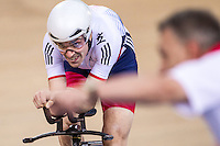 Picture by Alex Whitehead/SWpix.com - 04/03/2016 - Cycling - 2016 UCI Track Cycling World Championships, Day 3 - Lee Valley VeloPark, London, England - Great Britain's Andy Tennant competes in the Men's Individual Pursuit Qualifying. Heiko Salzwedel