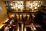 Customers enjoy dinner at Sekka Dining in Hirafu in the Niseko ski region of Hokkaido, Japan on Feb. 8 2010.