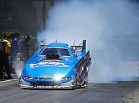 Jun 18, 2016; Bristol, TN, USA; NHRA funny car driver John Force during qualifying for the Thunder Valley Nationals at Bristol Dragway. Mandatory Credit: Mark J. Rebilas-USA TODAY Sports