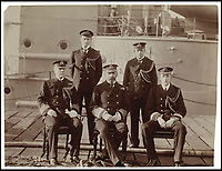 BNPS.co.uk (01202 558833)<br /> Pic: Sothebys/BNPS<br /> <br /> Gunboat diplomacy - Admiral Sir Arthur Moore (Centre).<br /> <br /> Unseen pictures from the days of Empire - A British admiral's stunning collection of photos from his time in the Far East have been unearthed after 110 years.<br /> <br /> The fascinating photographs were compiled by Admiral Sir Arthur Moore during his service as Commander-in-Chief of the China Station between 1906 and 1908. <br /> <br /> They cover Adm Moore's travels by ship and boat in China, Korea and Thailand and his interest in the places and people he encountered. <br /> <br /> The locations include scenes along the Yangtze River, Hong Kong, Bangkok, Peking, Shanghai and Seoul.