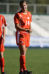 Clemson's Kelly Schneider on Wednesday, November 2nd, 2005 at SAS Stadium in Cary, North Carolina. The Florida State University Seminoles defeated the Clemson University Tigers 4-0 during their Atlantic Coast Conference Tournament Quarterfinal game.