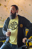 Having a Pint with Adam Eckhardt of CrankArm Brewery in Chapel Hill, N.C. on Thursday, January 9, 2014. (Justin Cook)