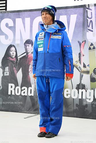 Noriaki Kasai, <br /> NOVEMBER 1, 2016 - Ski Jumping :<br /> 2016/2017 SAJ Team Japan TAKE OFF Press Conference<br /> at SUBARU STAR SQUARE, Tokyo, Japan.<br /> (Photo by AFLO SPORT)
