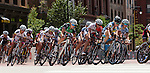 Riders compete in the Sr. Womens Category 1/2 race at the Herman Miller Cycling Classic held in Grand Rapids, Michigan on July 28, 2012
