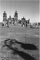 Zocalo (Central Plaza) and cathedral. Mexico City 3-10-04