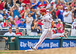 15 June 2016: Washington Nationals shortstop Stephen Drew rounds the bases after pinch hitting an 8th inning solo home run against the Chicago Cubs at Nationals Park in Washington, DC. The Nationals defeated the Cubs 5-4 in 12 innings to take the rubber match of their 3-game series. Mandatory Credit: Ed Wolfstein Photo *** RAW (NEF) Image File Available ***
