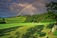 Rainbow over Kapalua golf course, Maui