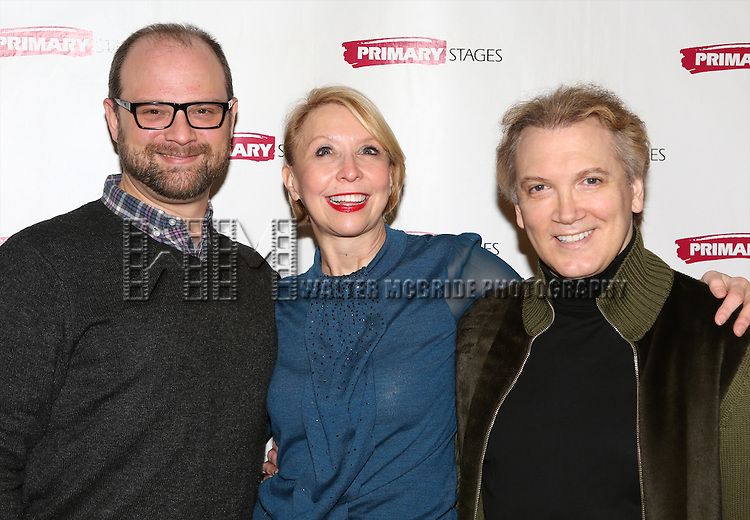 Carl Andress, Julie Halston & Charles Busch attending the Meet & Greet for the Primary Stages production of 'The Tribute Artist' at their rehearsal studios  on January 7, 2014 in New York City.