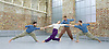 Balletboyz<br /> studio rehearsal for 'Young Men' at the BalletBoyz dance studio in Kingston, Surrey, Great Britain <br /> 16th September 2015 <br /> <br /> performed in costume :<br /> l to r: <br /> Marc Galvez<br /> Jennifer White <br /> Edward Pearce<br /> Bradley Waller <br /> <br /> <br /> <br /> &lsquo;YOUNG MEN&rsquo; <br /> Press nights:  October 6th and 7th 2015 at Sadler's Wells, London.<br /> <br /> <br /> <br /> Directors/Producers:  Michael Nunn and William Trevitt<br /> Choreography:   Iv&aacute;n P&eacute;rez<br /> <br /> Photograph by Elliott Franks <br /> Image licensed to Elliott Franks Photography Services