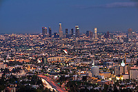 Los Angeles CA, Twilight, Dusk, Night, magic Hour,  Skyline, Hollywood, Capitol Records, High dynamic range imaging (HDRI or HDR)